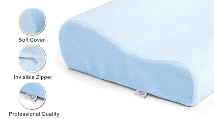 B-shaped Gel Memory foam Pillow Cooled Gel Pillow Ice Cooling Gel Memory Foam Pillow