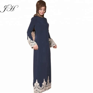 New arrival Middle East Thobe lace design Pakistan Abaya 2018 Fashion Islamic clothing Turkey Muslim Maxi dress