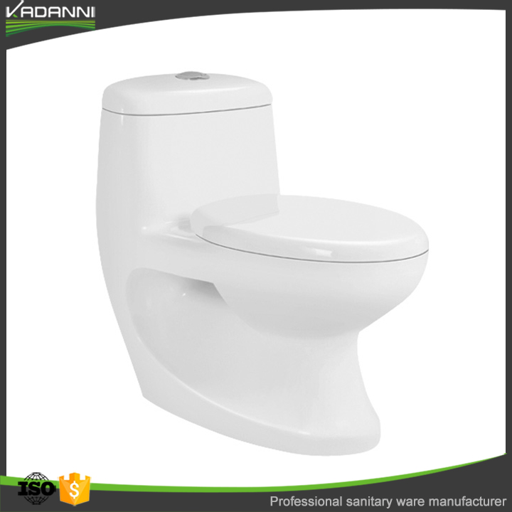 New design white washdown ceramic one piece toilet commode