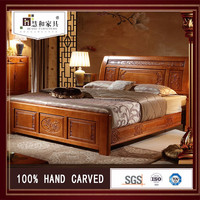 Customized Commercial New Solid Wood Bed Base,Solid Wood Bedroom Suite