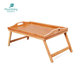 Wholesale Breakfast Food Bamboo Serving Tray With Folding Legs