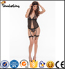OEM Accept Cheap Sexy black sexy babydoll lingerie sleepwear lace dress