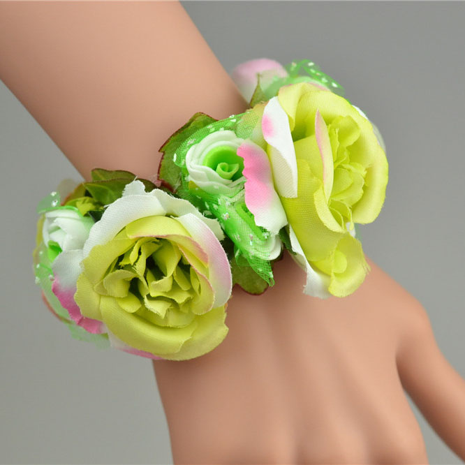 Bridesmaid Artificial  Flowers Hand corsages For Wedding Decoration