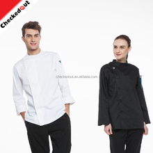 Eenvoudige fashion design kraag custom ademend <span class=keywords><strong>restaurant</strong></span> bar hotel chef kok <span class=keywords><strong>uniform</strong></span>