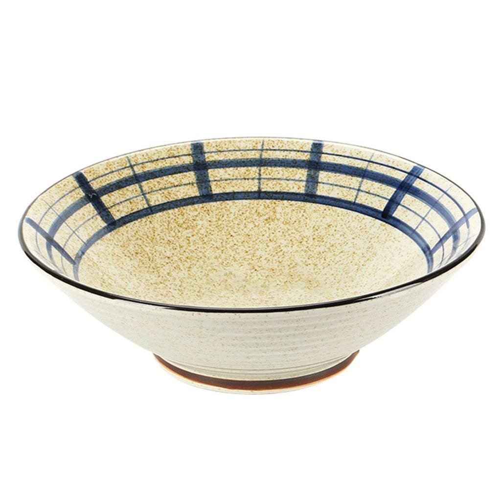 Bowls Bowl bowls Hand-painted rice bowls Soup bowls Bowls Bowls Hot bowls (Color : Beige, Size : 12 inches)