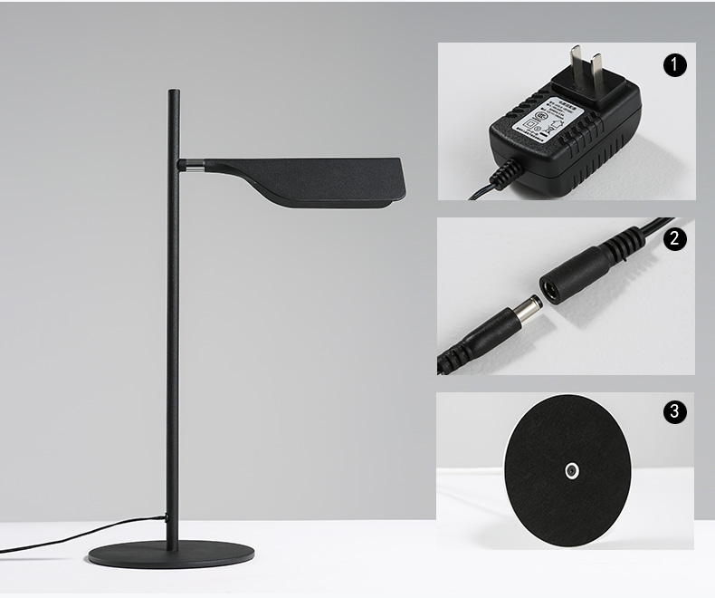 Hotel Lighting Simple Style Modern Iron Unique Task Lamp Black Whie Color