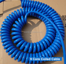 Blue TPU jacket sheath 8 core 1.5 sqmm2 spiral cable