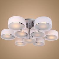 Wholesales Modern round cylinder Fixture Ceiling Light Acrylic translucent Pendant Lamp shade