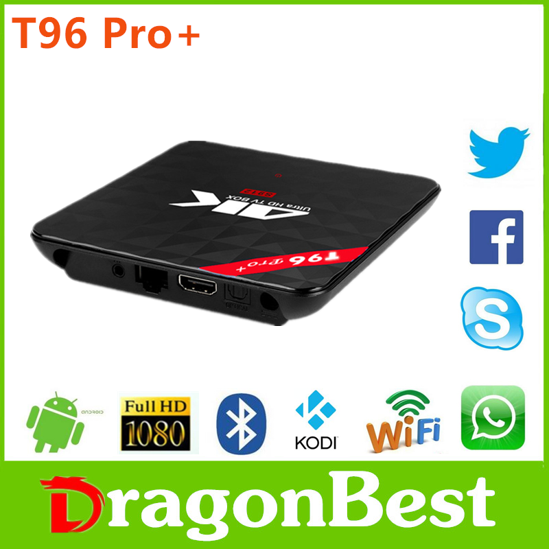 T96 Pro+ Amlogic 912 3g 32g smart tv kobi android box with CE certificate