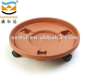 Saucer Plastic Flower Pot Pp Planter Inner Saucer With Wheel Buy