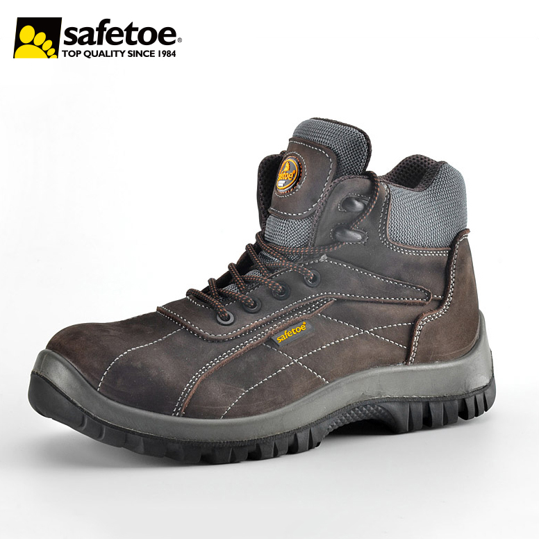 Heavy Duty Safety Shoes Full Nubuck Cow