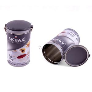 airtight air proof round tin can for food grad metal tin box custom tea tin