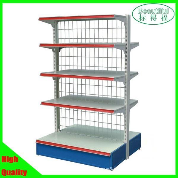 Supermarket shelf,gondola shelf,double sides shelf