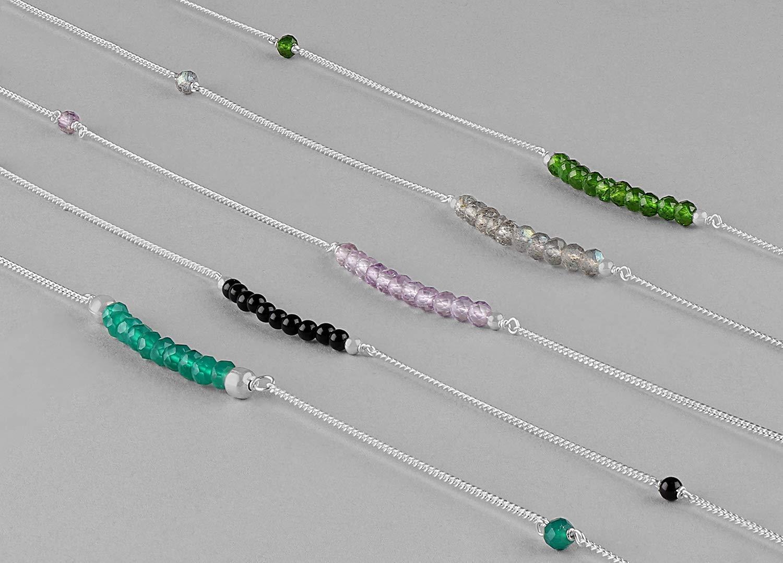 Natural Gemstone Crystal Beach Boho Beaded Silver Anklet, Body Jewelry, Delicate Anklet, Ankle Bracelet, Gemstone Anklet, Gift for her