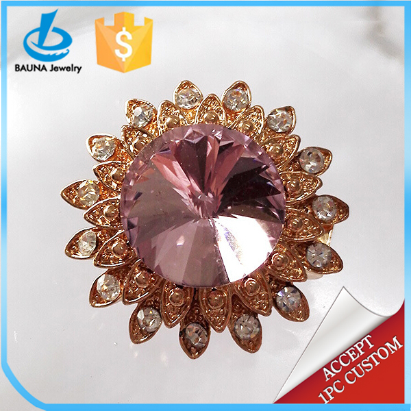 One small flower crystal brooches thailand