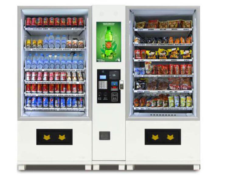 W060A-10A-10L combine snack & drinks vending machine with LCD