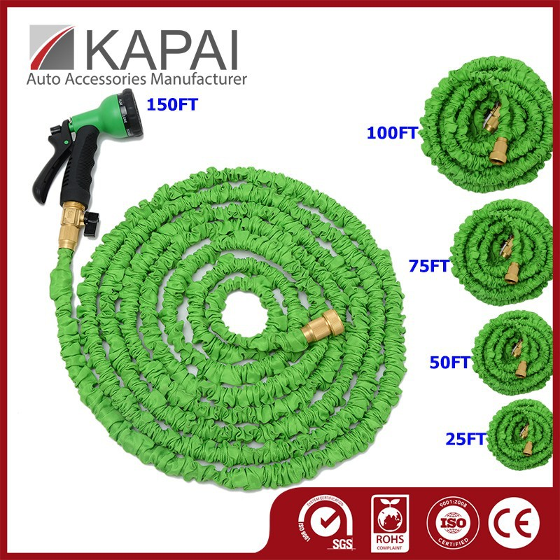 25/50/75/100/150FT Brass Fitting Water Expandable Garden Hose