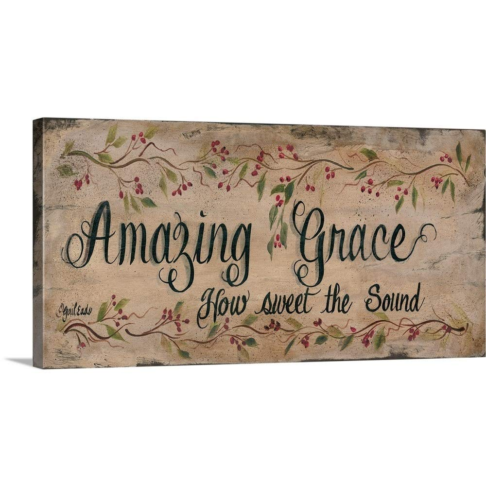 """GREATBIGCANVAS Gallery-Wrapped Canvas Entitled Amazing Grace by Gail EADS 60""""x30"""""""