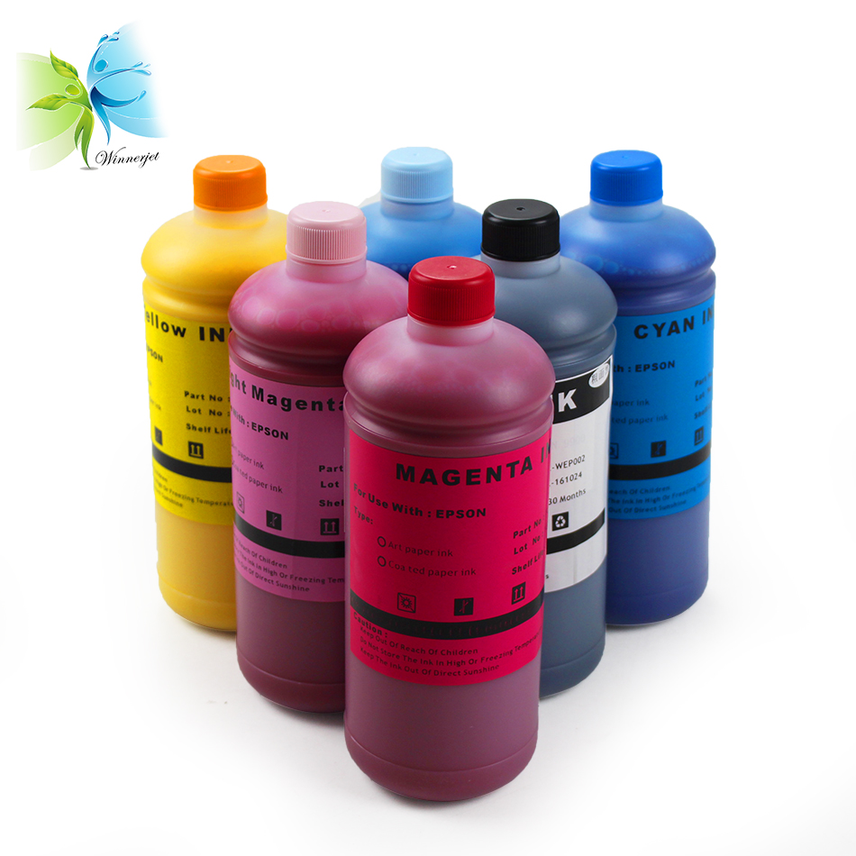Office Electronics Ink Refill Kits 500ml 6 Colors Art Paper Ink Art Pigment Ink For Epson T50 T60 P50 R200 R230 R260 R280 L1300 1390 1400 1410 1500w T1100 T1110 Discounts Price