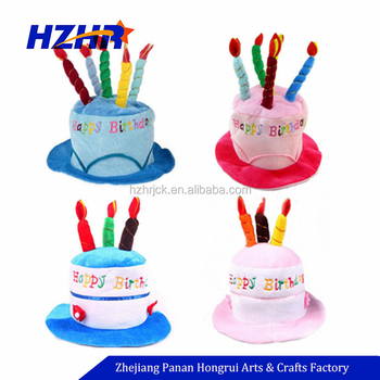 2018 Customized Adult Fancy Candle Cake Birthday Plush Hat King Top