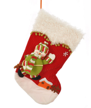 knit plush santa christmas stockings with long leg santa dolls