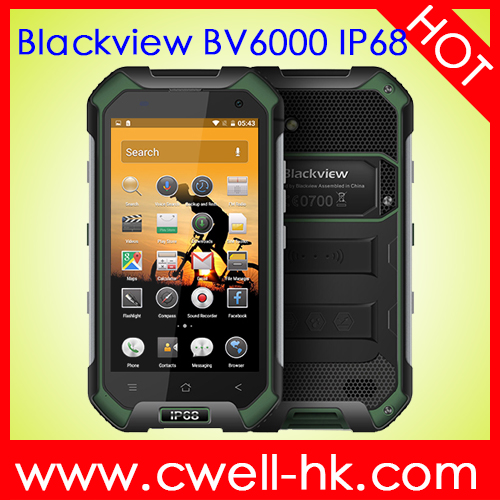 IP68 Android 6.0 Rugged Smartphone Blackview BV6000 Waterproof Mobile Phone With GPS