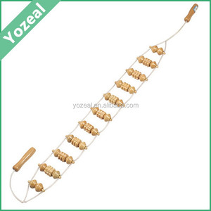 Best-selling wooden roller back massager, personal wood beads back massager