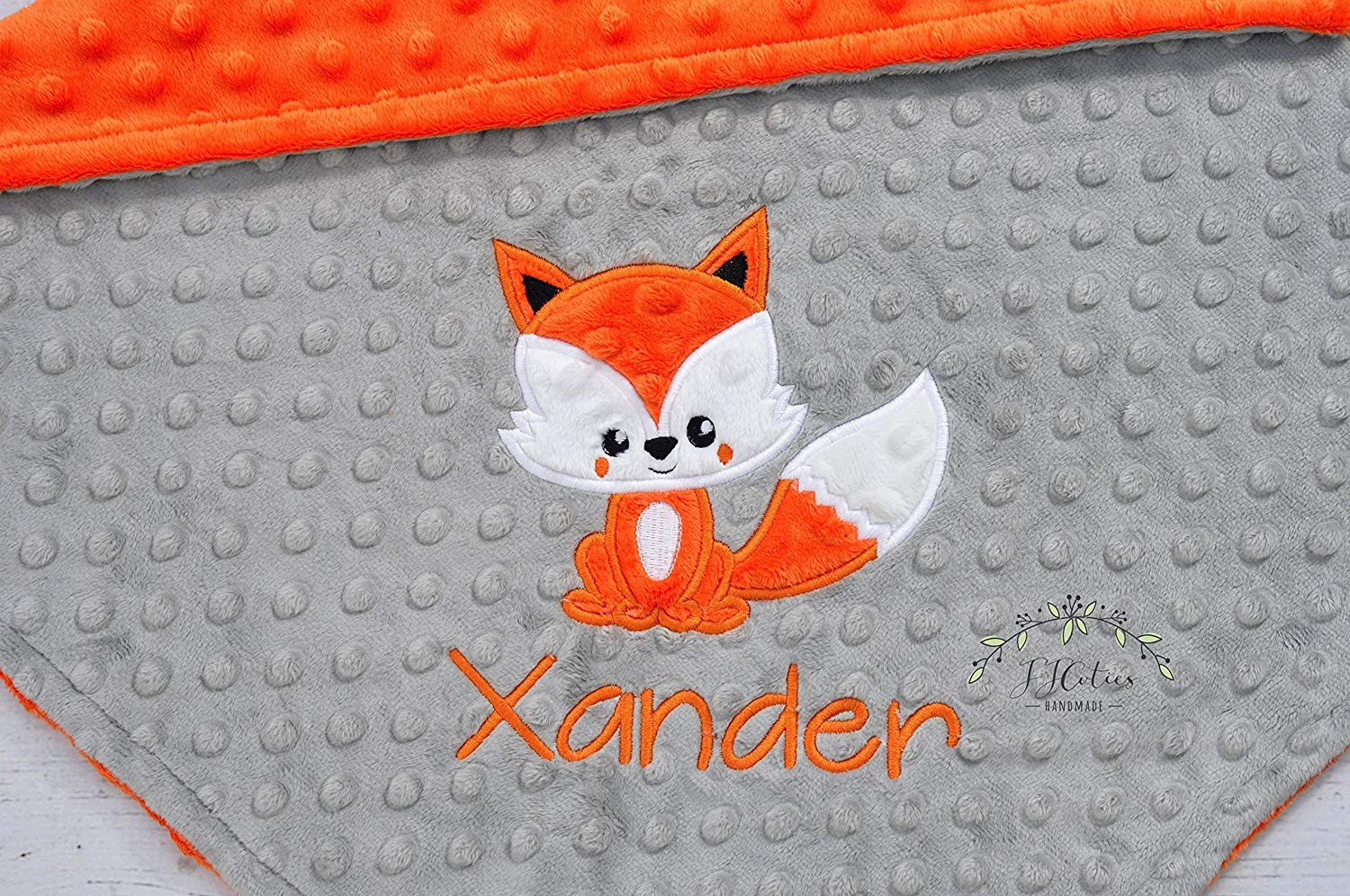 9eb33278d7 Get Quotations · Personalized Woodland Fox Minky Girl Boy Stroller Crib baby  blanket