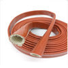 Red Silicone Coated fiber glass Fire sleeves insulation tube