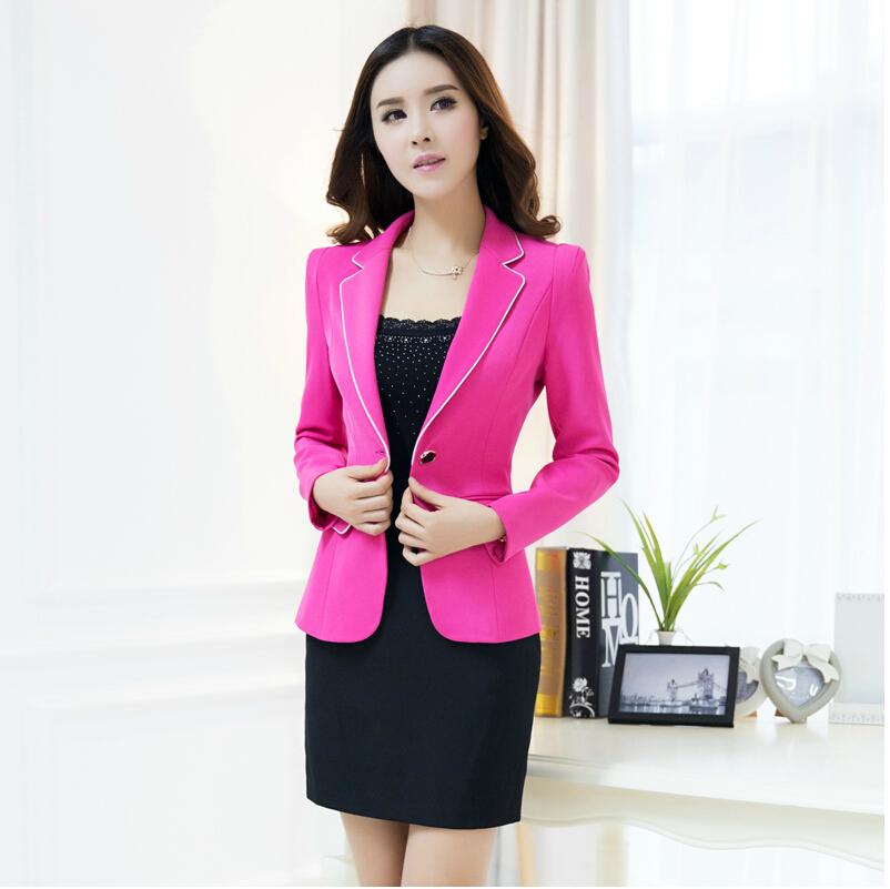 2c5c10af88f New Professional Business Suits Formal Uniform Style Elegant Black Office  Work Wear Pantsuits For Ladies Blazer And Pants Set