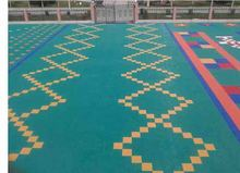lowest price PP tiles interlocking sports floor basketball court &waterproof