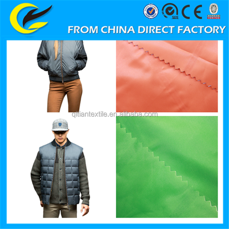 Hotsale outdoor winter sportwear down jacket down bag lining fabric