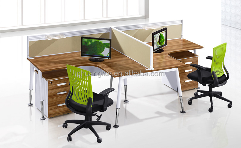 Cf 2 person melamine workstation furniture office employee for Couch 6 personen