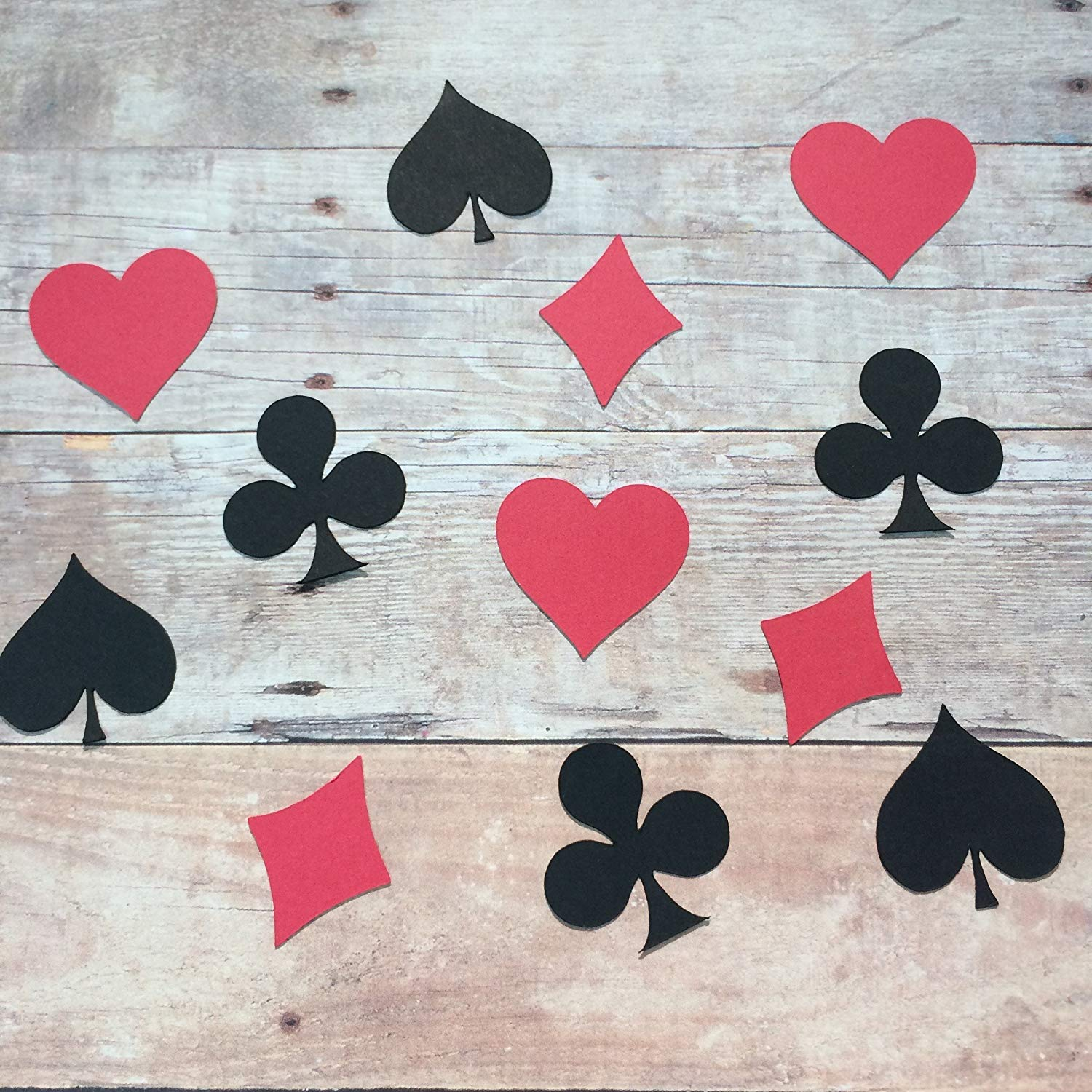 1in Playing Card Confetti Set, Heart Outs, Diamond Cut Out, Spade Cut Out, Club Cut Outs, Poker Decorations, Card Decorations, Poker Party Supplies, Game Night Party Supplies, Casino Theme