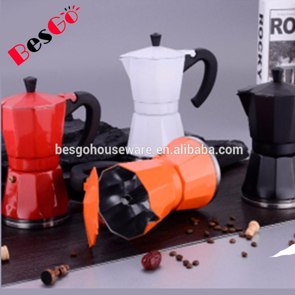 Induction Espresso Moka Pot Clic 6 Cup Mini Maker