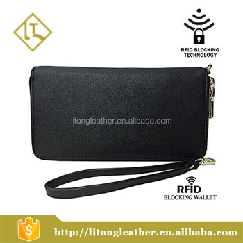 Womens Rfid Blocking Wallet Classic Clutch Leather Long Card Holder Purse Handbag