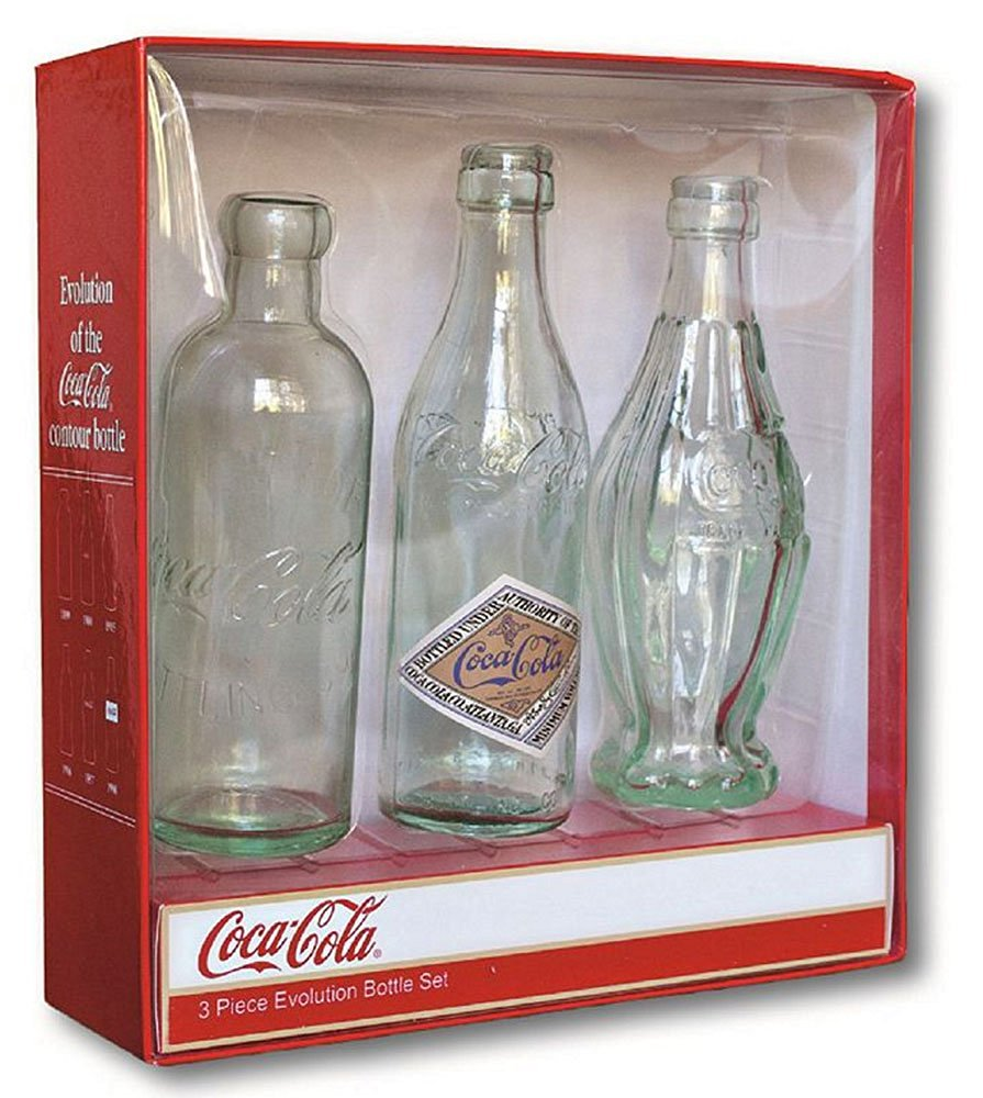 Full Size Evolution of the Contour Coca-Cola Bottle History Gift Box