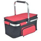 Latest Folding Detachable Aluminum Alloy Picnic Basket Large Aluminum Cooler Bag Thermal Bag