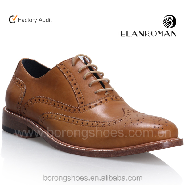 Latest classic brogue genuine leather shoe for men Oxfore leather shoe wingtip shoe