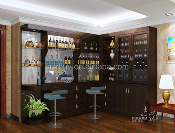 Living Room Furniture Set Wooden Corner Cabinet Everyday Living Furniture  Wine Cabinet Part 46