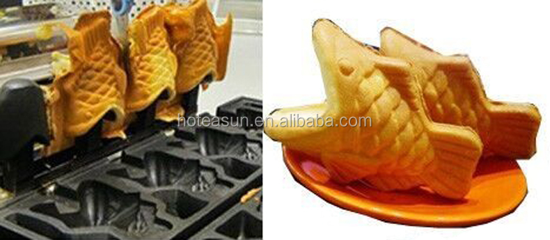 Hot Sale 4pcs Commercial Use Non-stick 110v 220v Electric Ice Cream Taiyaki Machine