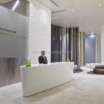Simple design solid surface information desk for shopping mall,solid  surface reception desk counter