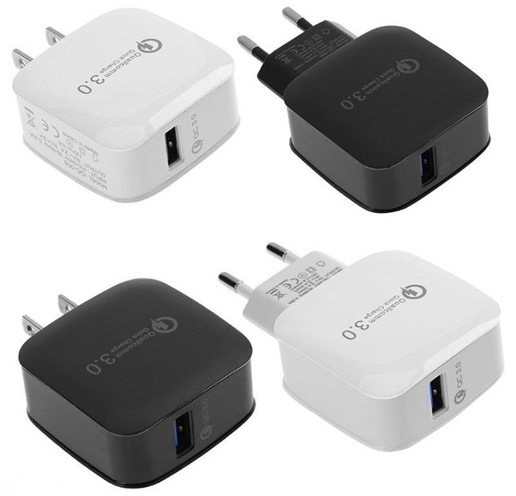 Quick Charger Wall Socket QC3.0 Universal Travel Adapter with USB Charger