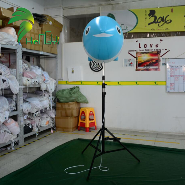 Customized Inflatable fish shape balloon with tripod stand for advertising