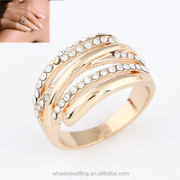 2014 Factory Directly Sale Ring Piston Ring With Diamond Engagement Ring size at 13mm For Women