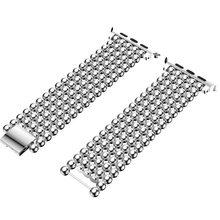 Ремешок для Apple Watch 38 мм 40 мм 42 мм 44 мм модный стиль бусин ремешок из нержавеющей стали для Iwatch 1 2 3 4 ремешок для часов браслет ремень(Китай)