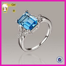 Fashion jewelry blue topaz rings wholesale alibaba silver jewelry new products 2015