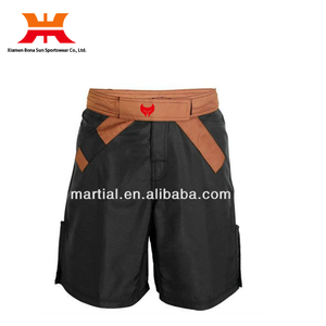 wholesale plain custom size xxxl bjj gi mma shorts with brown belt