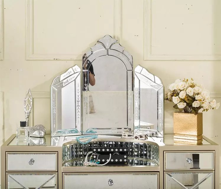Bedroom Furniture Modern Mirror Dressing Table With Drawer Buy