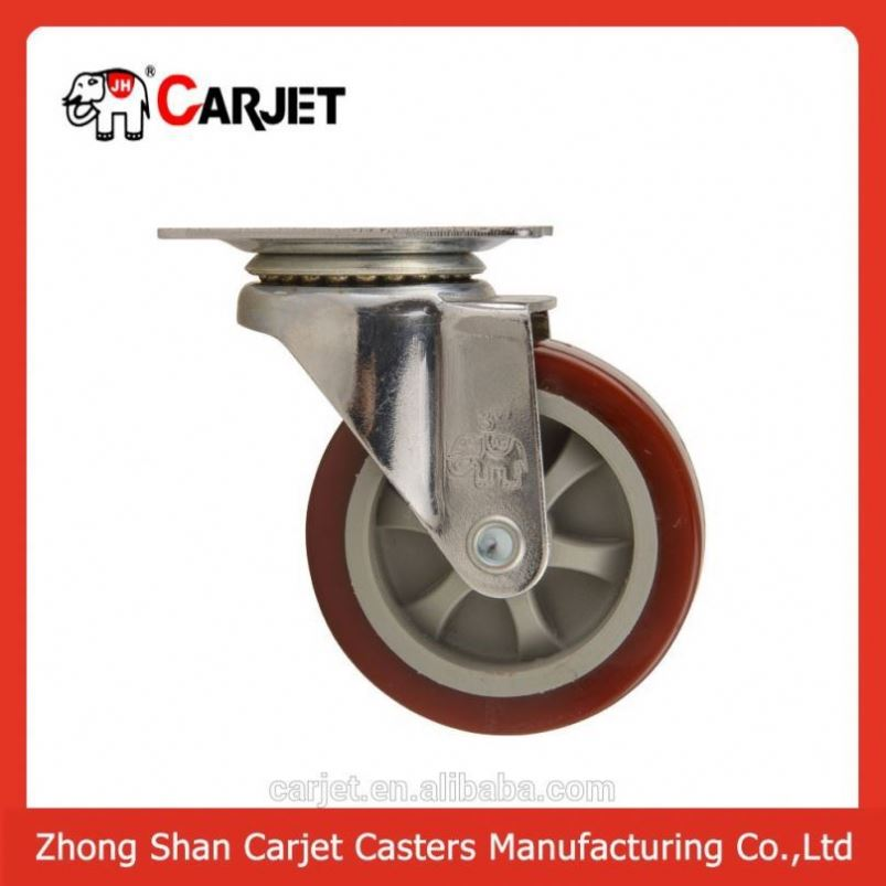 High quality 6 inch industrial castor with brake leveling caster
